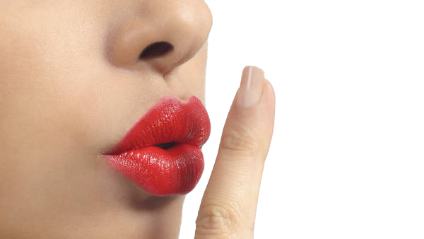 shhh lips transparent